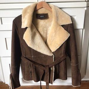 Kaity Faux Fur And Sheepskin Jacket